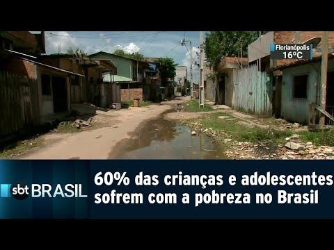 60% das crianças e adolescentes sofrem com a pobreza