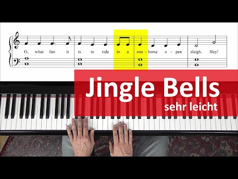 "Jingle Bells am Klavier lernen – sehr leicht: ""easy Piano"""