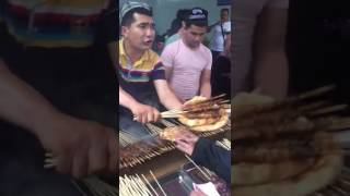 Kebaabs and Naan Bread  in Yiwu, China. 200km West of Shanghai,China