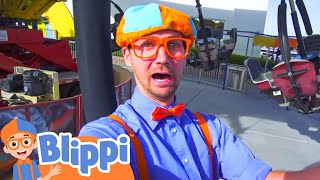 Blippi at an Amusement Park   Learning Colors at the Carnival