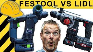 69€ PARKSIDE schlägt 300€ FESTOOL? BOHRHAMMER TEST! | WERKZEUG NEWS #52