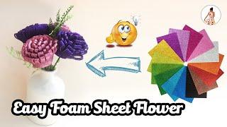 DIY | handmade flowers | handmadecraft |  How To Make Foam Sheet Flowers