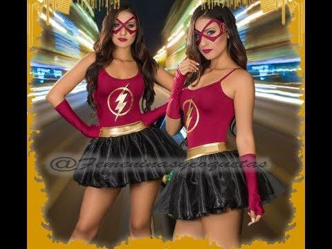 Disfraz de Chica Flash, disfraz de súper héroe para mujer