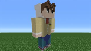 Minecraft Tutorial: How To Make A SamGladiator Statue (Youtuber)