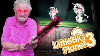 GRANDMA, GO AWAY!!! | Little Big Planet 3 (PS4) Multiplayer Gameplay