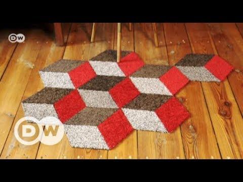 DIY Teppich aus geometrischen Formen | DW Deutsch