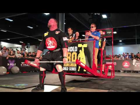 Arnold Being Deadlifted at the Arnold Sports Festival South America