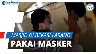 Viral Masjid di Bekasi Larang Jemaah Pakai Masker, Pengurus: untuk Bedakan Masjid dengan Pasar