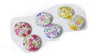 簡単!イヤリング(ピアス)の作り方DIY Fabric Button Earrings