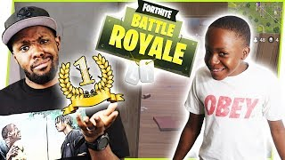 THE TRY TO WIN W/ ANNOYING LITTLE BROTHER CHALLENGE! - FortNite Battle Royale Ep.34