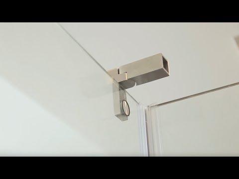 Montage Glasdusche mit Duschtür und Festteil