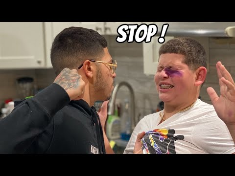 PUNCHING MY LITTLE BROTHER AND GIVING HIM A BLACK EYE ! *PRANK ON MOM* | The Braap Family