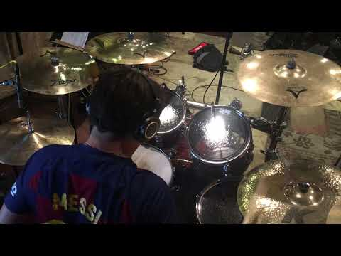 """Video of me recording drums on our latest album, """"Time Has Come"""" by Karkaza"""