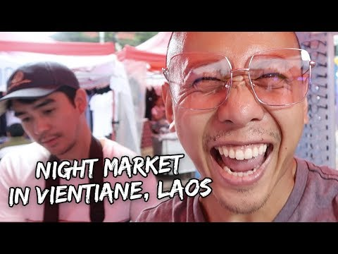 NIGHT MARKET IN VIENTIANE, LAOS | Vlog #201