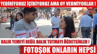 """Erdoğan : """"Yediriyoruz İçiriyoruz Ama  Oy Vermiyorlar"""" Dedi !  Halk Ne Diyor ?"""
