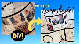 Family Photo Lampshade Tutorial ❣️ STEP BY STEP DIY Picture Lamp Shade
