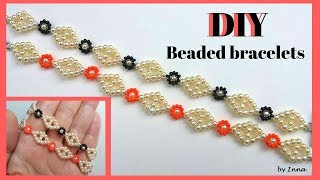 Diy Beaded Bracelets.  Pattern For Beginners