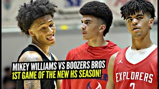 Mikey Williams vs The BOOZER BROS!! 1st Game Of The Season Was EPIC at KT Classic!!