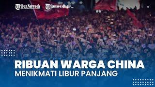 Ribuan Warga China Menikmati Libur Panjang, Datangi Festival Musik Tanpa Khawatir Covid-19