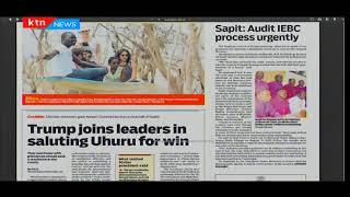 Donald Trump joins leaders in saluting Uhuru Kenyatta for win