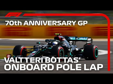 F1 2020 第5戦イギリスGP(70周年記念グランプリ) ポールポジションのバルデリ・ボッタスのオンボード映像
