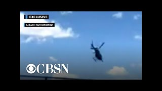 Video shows moment helicopter crashes into NYC's Hudson River
