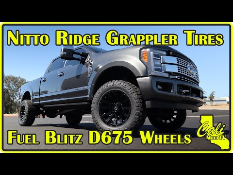 2019 Ford F-250 Platinum Gets Fuel Blitz Wheels and Nitto Ridge Grappler Tires
