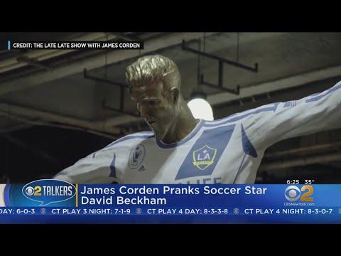 James Corden Pranks David Beckham (видео)