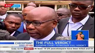 Supreme Court to explain in detail why it upheld President Uhuru's win