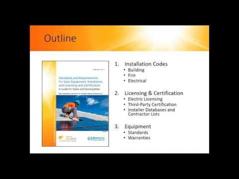 Solar Equipment, Installation, License & Certification: States and ...