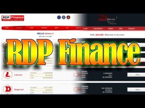 СКАМ! RDPfinance (RDP Finance) - новый облачный майнинг на базе RDPmain. Старт и покупка мощности