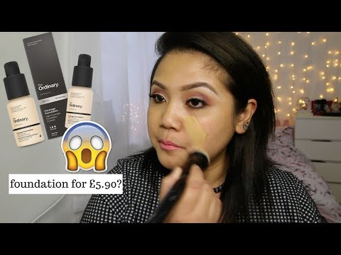 The Ordinary Serum and Coverage Foundation on Asian Skin | First Impression