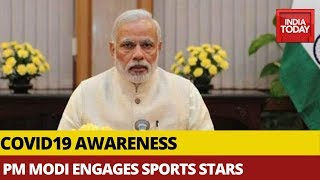 PM Modi Holds Video Conference With 49 Sportspersons Across Sports Fraternity In India