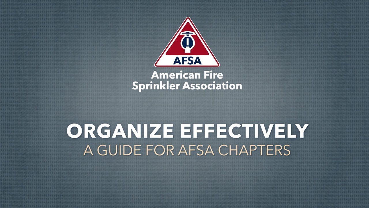 Organize AFSA Chapters Effectively