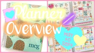 Planner Overview ❤️ May-September 2015