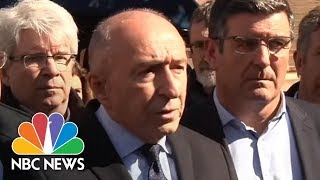 French Interior Minister Gerard Collomb Gives Details On Trebes Terror Attack | NBC News | Kholo.pk