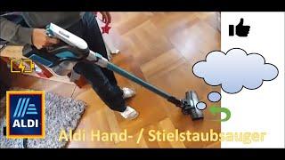 Aldi Zyklon Staubsauger mit Akku. Test Leitung und Betrieb Staubsaugen Was taugt das?