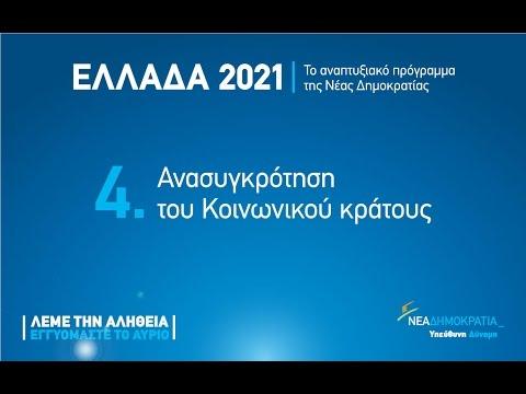 Ομιλία του Αντώνη Σαμαρά για την Ανασυγκρότηση του Κοινωνικού Κράτους