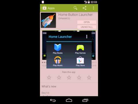 Video of Home Button Launcher