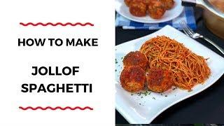 HOW TO MAKE JOLLOF SPAGHETTI – PASTA RECIPE – ZEELICIOUS FOODS