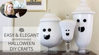 Easy And Elegant (and KID-FRIENDLY) Halloween Crafts
