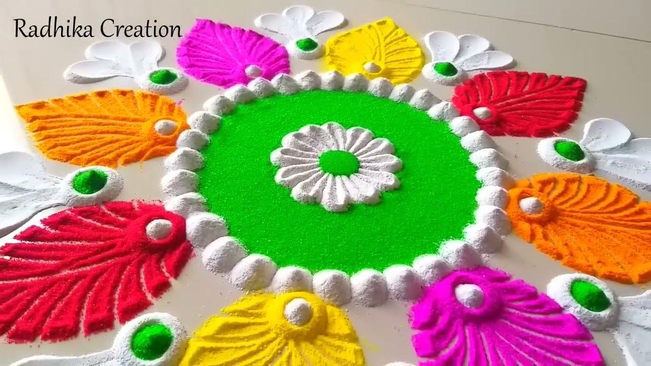 akshya tritiya special festival rangoli design by radhika