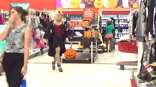 Tgirl Vampiress In A Target Store (HD) Matty Caff Crossdresser Transvestite