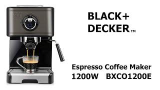 Black+Decker BXCO1200E Cafetera Espresso UNBOXING  y REVIEW Black & Decker