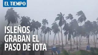 Isleños graban el paso de Iota