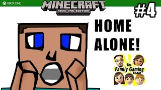 Dad plays MINECRAFT XBOX ONE: Home Alone! / Going Out with a Bang! (#4)