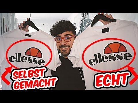 Experiment Marken T-Shirt Ellesse selber machen   Real vs Fake Straßenumfrage 👕😍 Arturizda