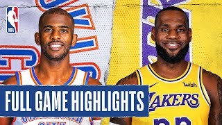 THUNDER at LAKERS   FULL GAME HIGHLIGHTS   August 5, 2020