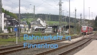 preview picture of video 'Bahnverkehr in Finnentrop und das alte BW.'