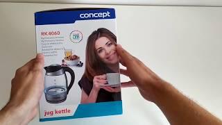 Rýchlovarná kanvica Concept RK 4060 - za aký čas privedie vodu k varu? TEST (unboxing)